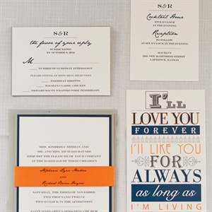 Playful Blue and Orange Invitations