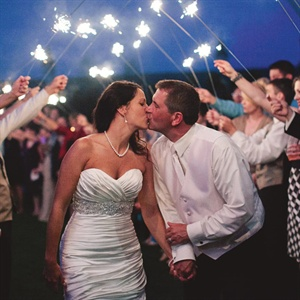 Romantic Sparkler Send Off