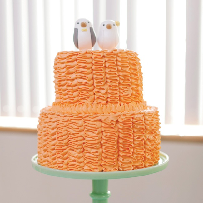 The couple opted for three small cakes, including