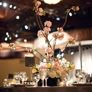 Tall Cherry Branches Centerpiece