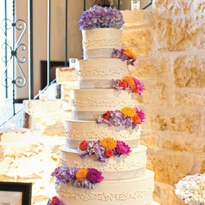 Rhinestone Decorated Wedding Cake