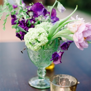 Vintage Glass Centerpiece