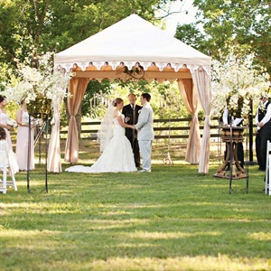Tented Ceremony Decor