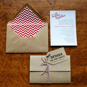 Retro Kraft Paper Invitations