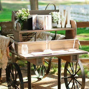 Rustic Guestbook Table