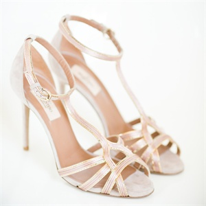 Strappy Stiletto Bridal Shoes