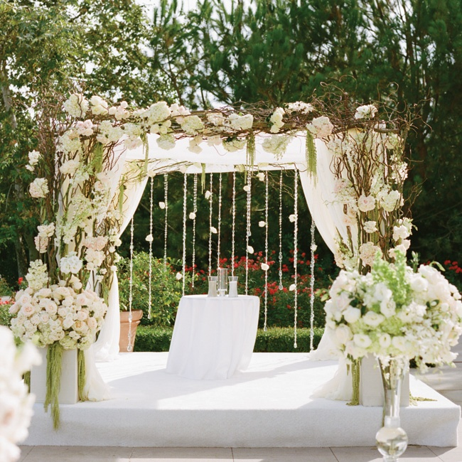 The couple was married