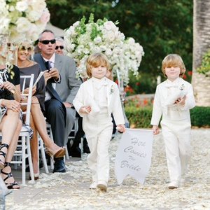 White Ring Bearer Attire