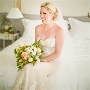 Lace-Embellished Wedding Gown