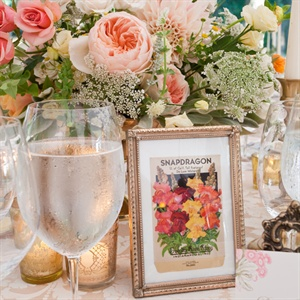 Vintage Flower Table Names
