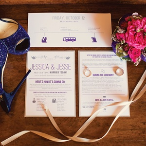 Playful Purple Wedding Stationery