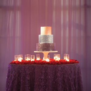 Ombre Paillette Adorned Cake