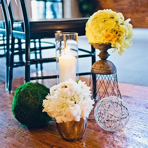 Yellow and White Ceremony Decor