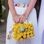 Craspedia and Succulent Flower Girl Basket