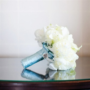 White Peony and Calla Lily Bridal Bouquet