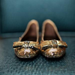 Gold Sequin Kate Spade Flats