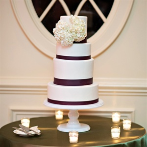 Simple Purple and White Cake