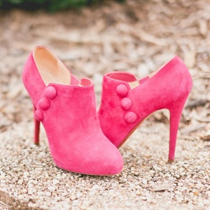 Suede Fuchsia Booties
