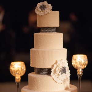 Sparkly Three-Foot Wedding Cake