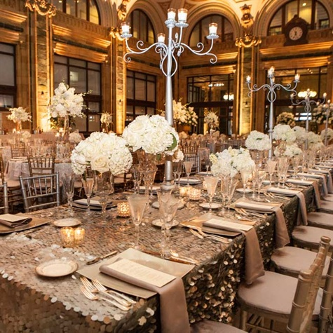 Metallic Reception Decor