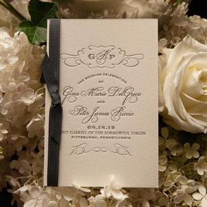 Elegant Letterpressed Wedding Programs