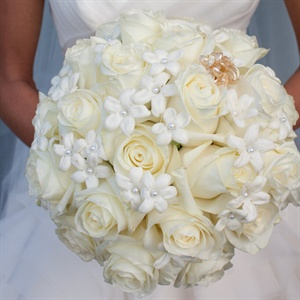 White Rose and Stephanotis Bouquet