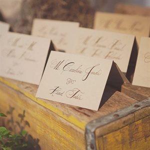 The tented escort cards