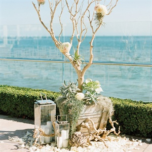 Chic Driftwood Altar Arrangements