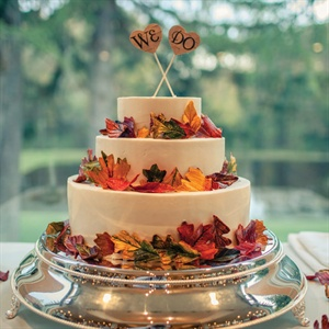 Autumn-Colored Leaves Cake