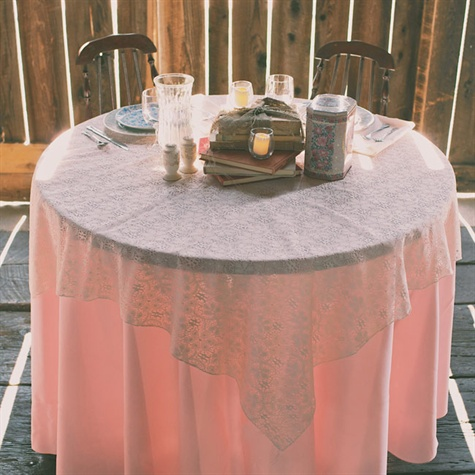 Pink and Lace Tablecloths