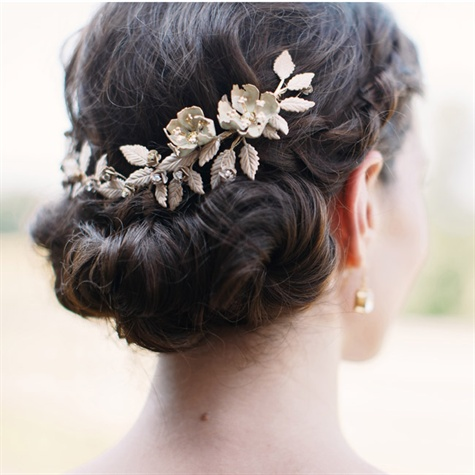 Low Bun Bridal Hairstyle