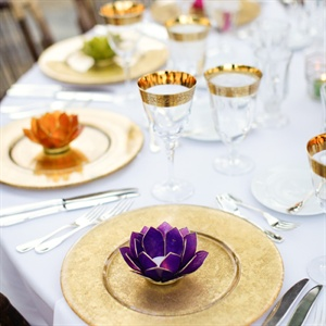 Jewel Toned Lotus Candle Holder Favors