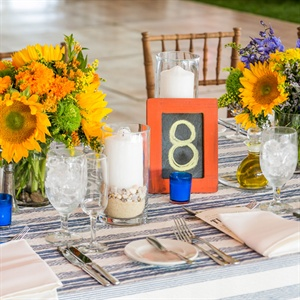 Farm Table Reception Decor