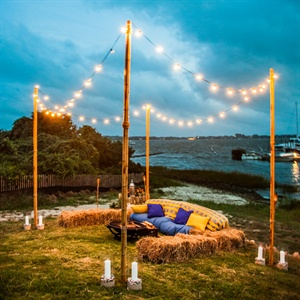 beach/waterfront wedding reception decor