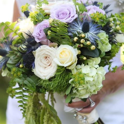 Eclectic Cascading Bridal Bouquet
