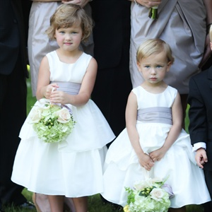 White Jenny Woo Flower Girl Dresses