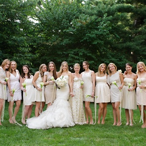 Neutral-Colored Bridal Party