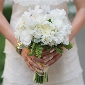 White Rose and Lace Bouquet