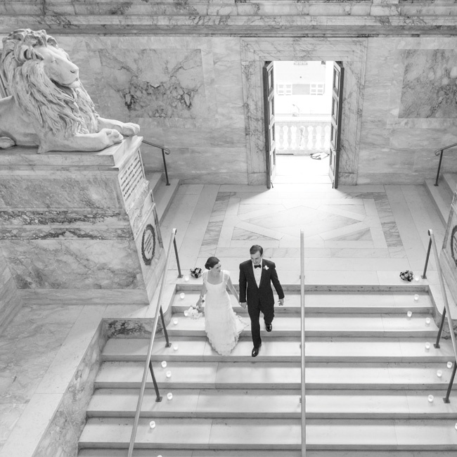 Once they decided to get married in Boston, the Boston Public Library was
