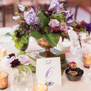 Flower and Book Centerpieces