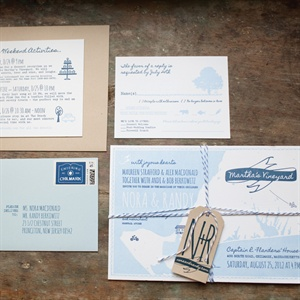 For their invitations, the