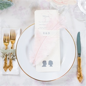 Silhouette Menu Cards