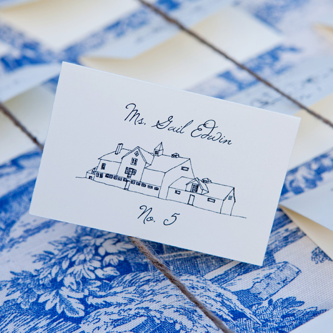 Stonover Farm Illustration Escort Cards