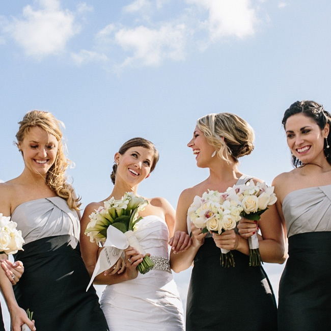 All 11 bridesmaids wore the same gown.