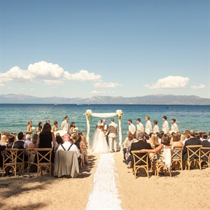 Lake Tahoe Beach Ceremony