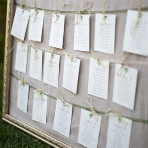 "Guests found their seats via this ""master list"" of escort