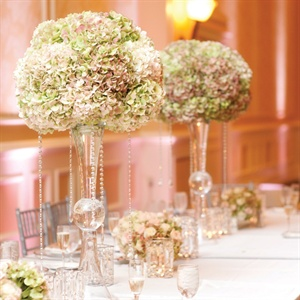 Zoe Vases with Antique Hydrangeas