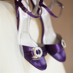 Purple Dyeables Bridal Shoes