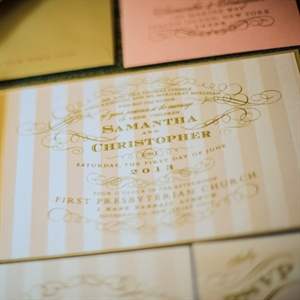 Ornate Gold and Pink Invitations