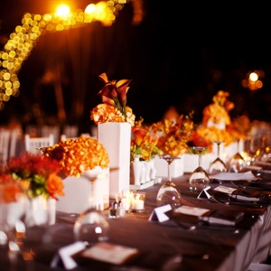 Orange and Gray Tablescape